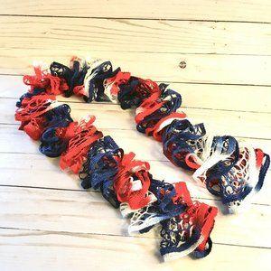 Ruffle Scarf Sashay Patriotic (Red/White/Blue)